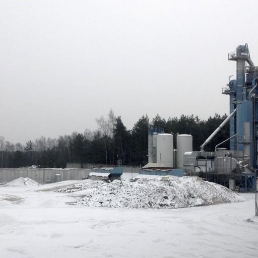 Stacjonarna baza do produkcji asfaltu w Mszczonowie